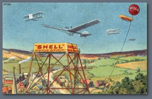 Shell Postcard - Shell Motor Spirit Aviation Card