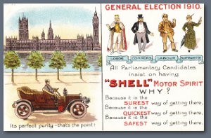 Shell Postcard - General election 1910